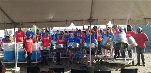 Teamwork. . . Hellsgate Steel Orchestra and CKSO  Easter 2019