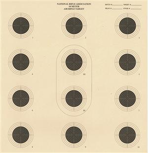 NRA 10 meter Competition Target