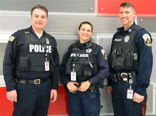 School Resource Officers O'Brien, Greco, and Loewer