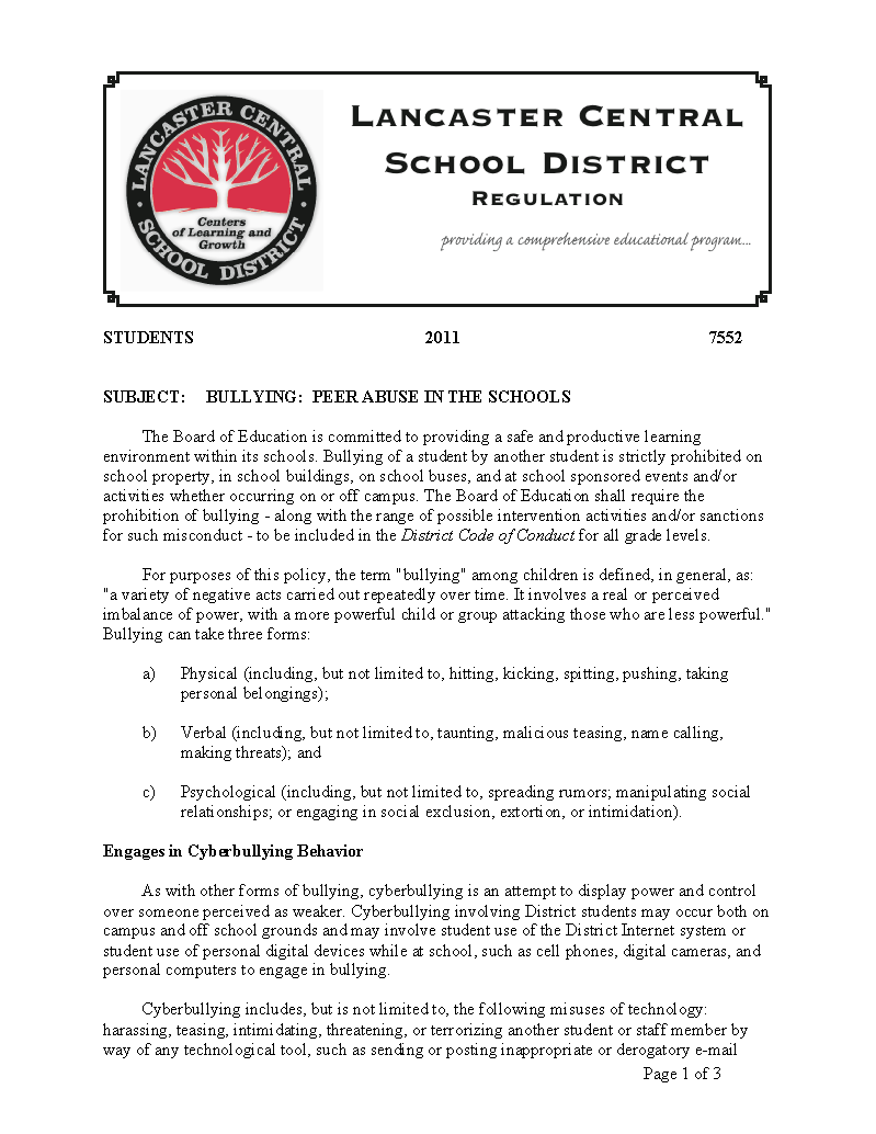 Policy Page 1