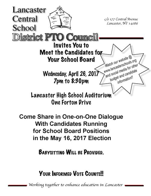 Flyer for Meet the Candidates