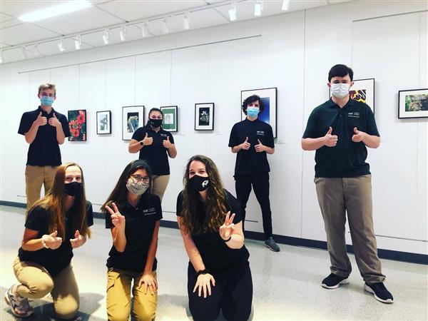 AOF Students visit the LHS Art Gallery