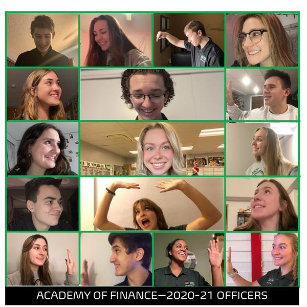 Collage of the AOF officers for 2020-2021.