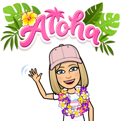 Mrs. Grady saying Aloha.