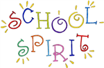 colorful image of the words school spirit